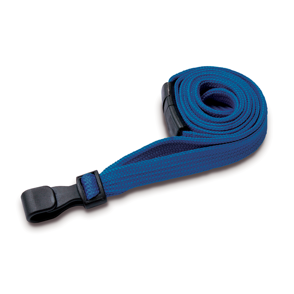 Light Blue Lanyards with Breakaway and Plastic J Clip - Pack of 100
