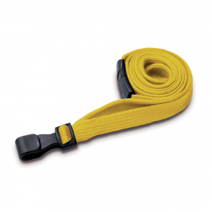 Yellow Lanyards with Breakaway and Plastic J Clip - Pack of 100