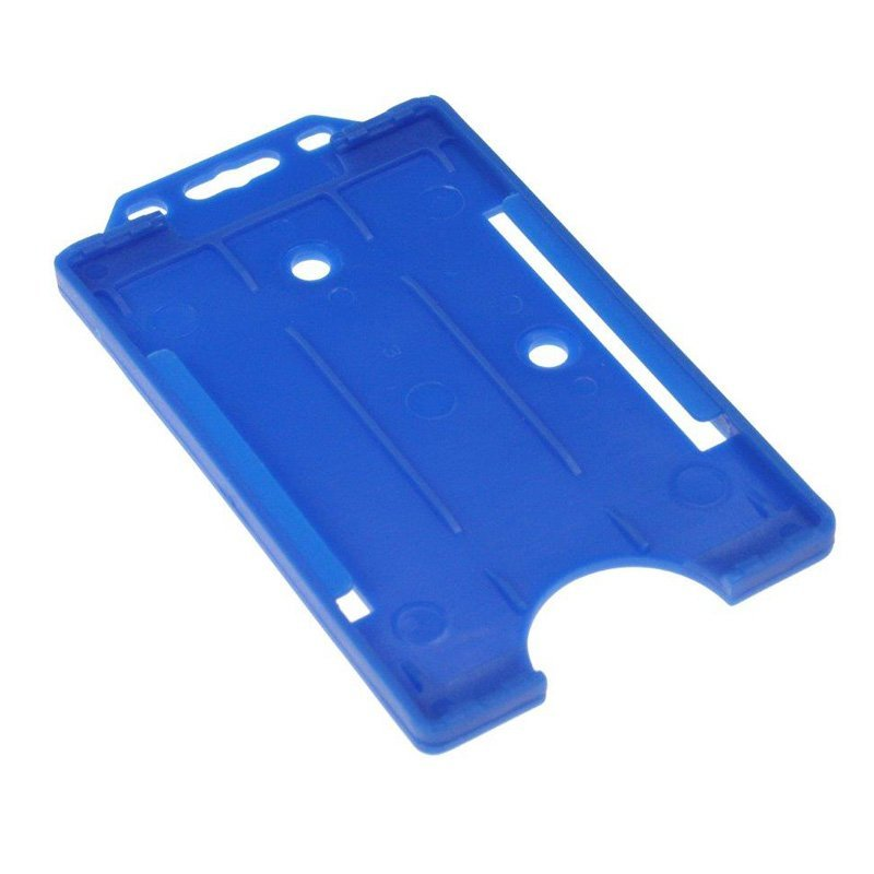 Blue Open Faced Biodegradable Card Holders - Portrait