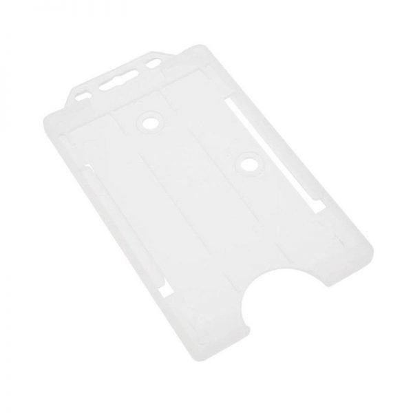 Clear Open Faced Biodegradable Card Holders - Portrait