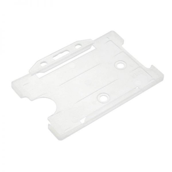 Clear Open Faced Biodegradable ID Card Holders - Landscape
