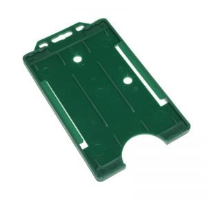 Dark Green Open Faced Biodegradable Card Holders - Portrait