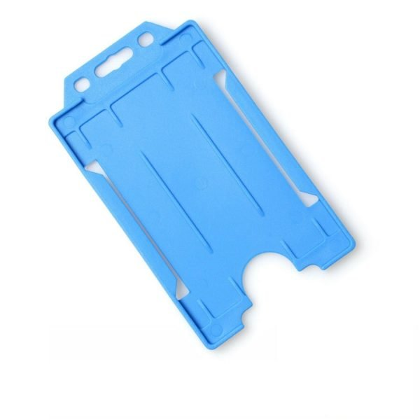 Light Blue Open Faced Biodegradable Card Holders - Portrait