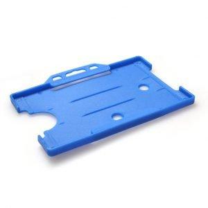 Light Blue Open Faced Biodegradable ID Card Holders - Landscape