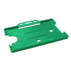 Light Green Open Faced Biodegradable ID Card Holders - Landscape