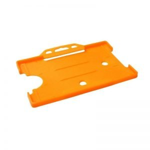 Orange Open Faced Biodegradable ID Card Holders - Landscape