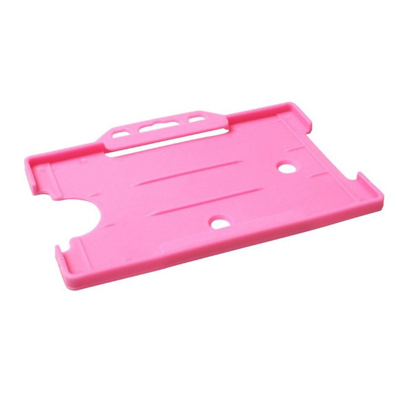 Pink Open Faced Biodegradable ID Card Holders - Landscape