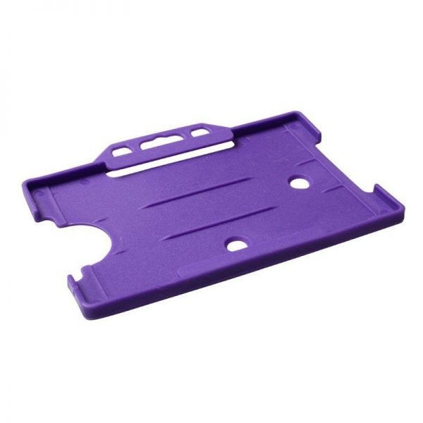 Purple Open Faced Biodegradable ID Card Holders - Landscape