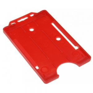 Red Open Faced Biodegradable Card Holders - Portrait