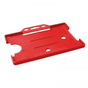 Red Open Faced Biodegradable ID Card Holders - Landscape