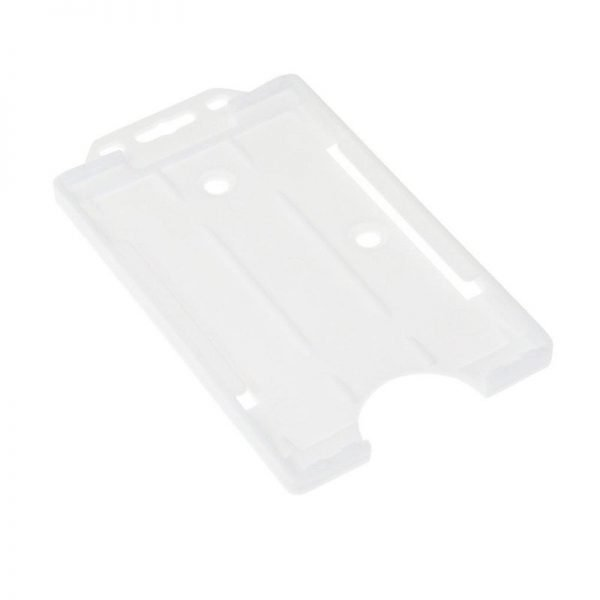 White Open Faced Biodegradable Card Holders - Portrait
