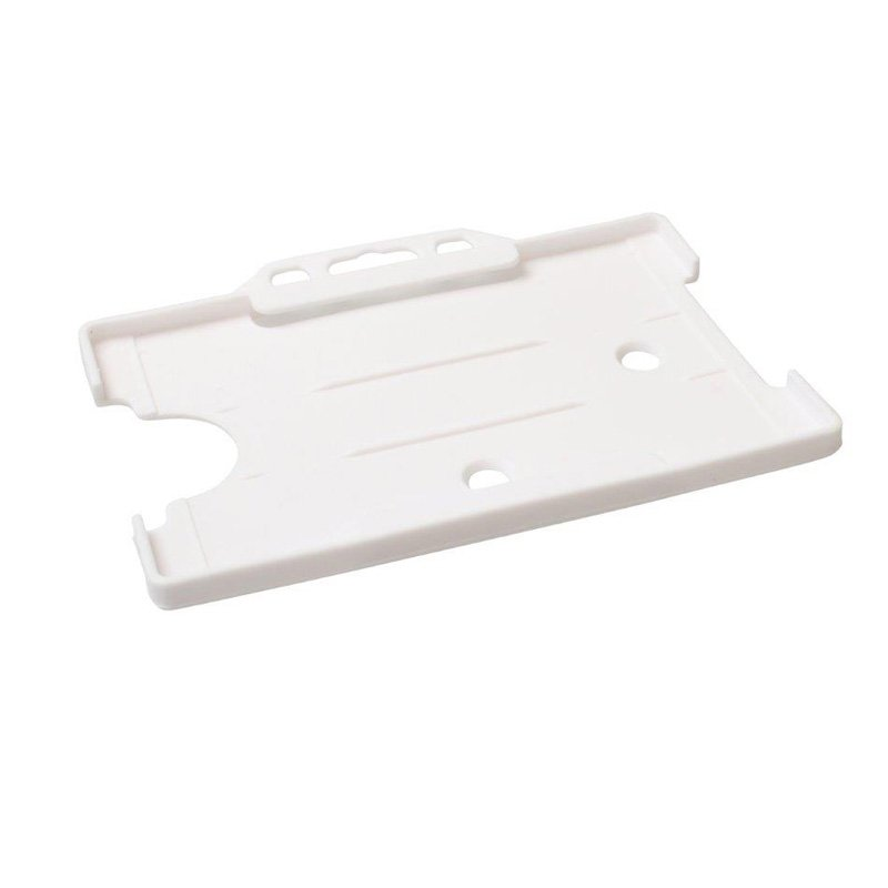White Open Faced Biodegradable ID Card Holders - Landscape