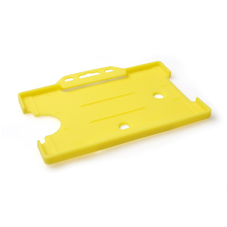 Yellow Open Faced Biodegradable Card Holders - Landscape
