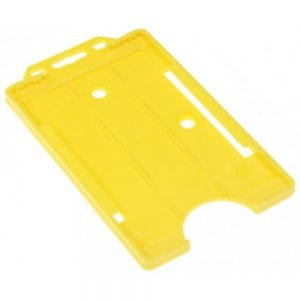 Yellow Open Faced Biodegradable Card Holders - Portrait