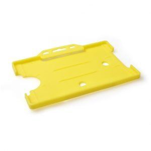 Yellow Open Faced Biodegradable ID Card Holders - Landscape