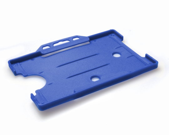 Blue Open Faced Rigid Card Holders – Landscape