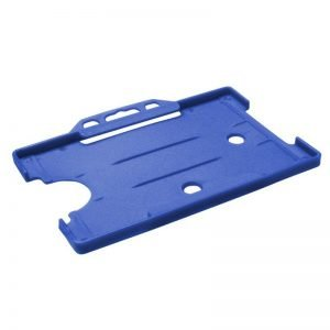 Blue Open Faced Biodegradable ID Card Holders - Landscape