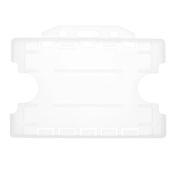 Clear Dual Sided Open Faced ID Card Holders Landscape