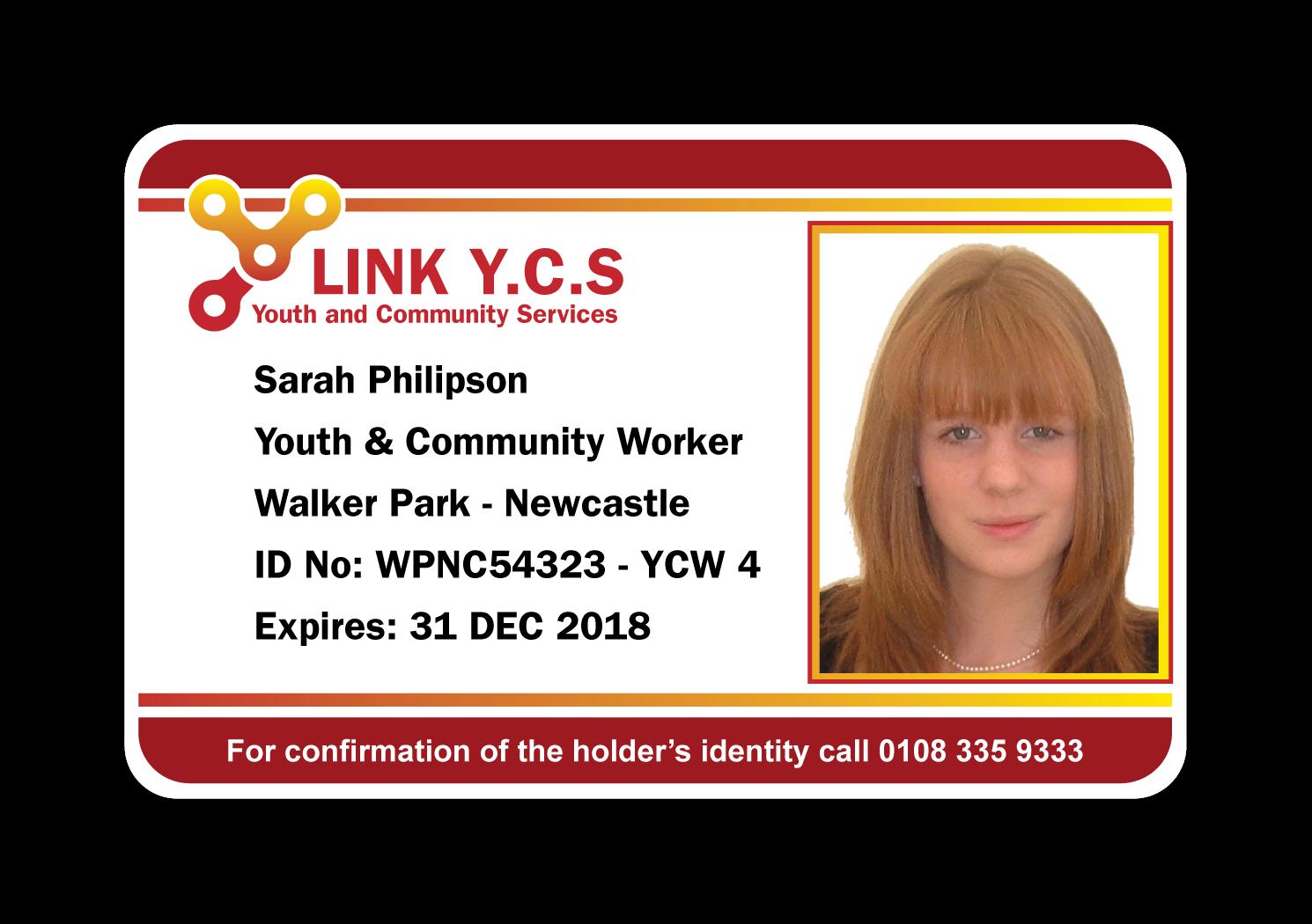 Youth Work ID Card