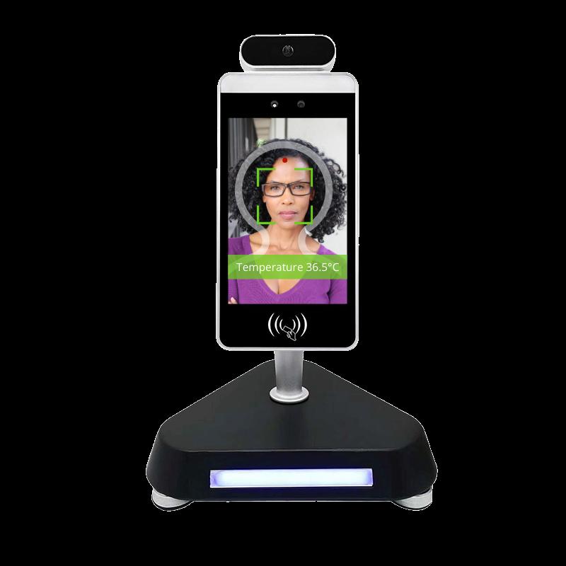 Temperature Measurement Kiosk with Facial Recognition - Desktop Stand