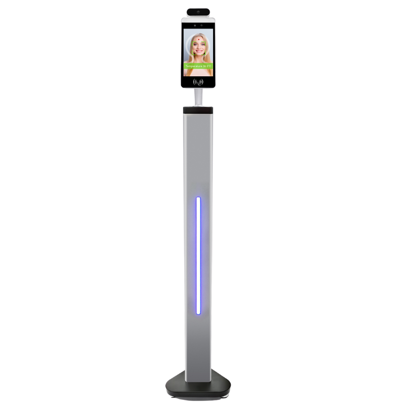 Temperature Measurement Kiosk with Facial Recognition - Floor Mount