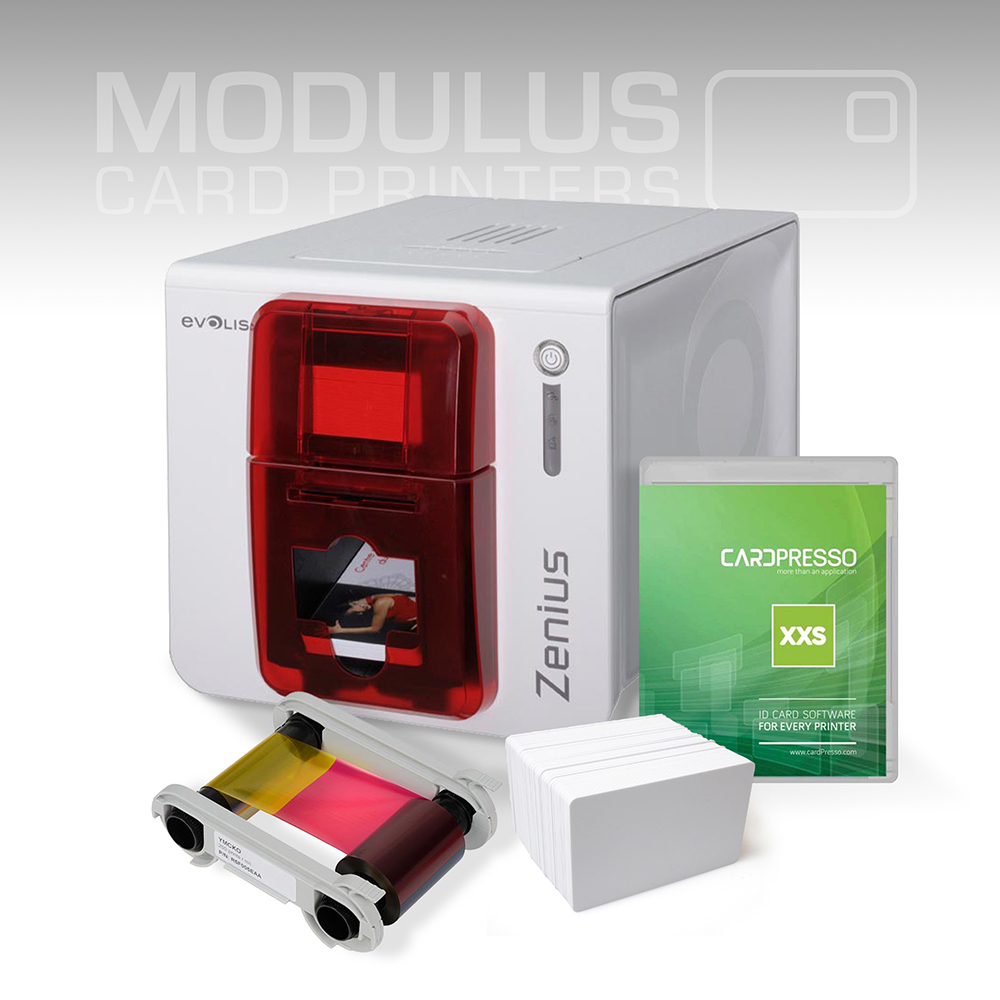 Evolis Zenius Single Sided Card Printer Package