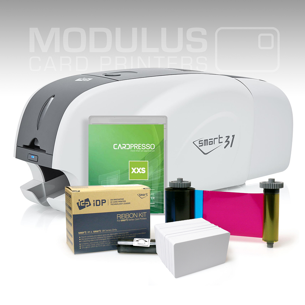 IDP Smart 31D Dual Sided Card Printer Package