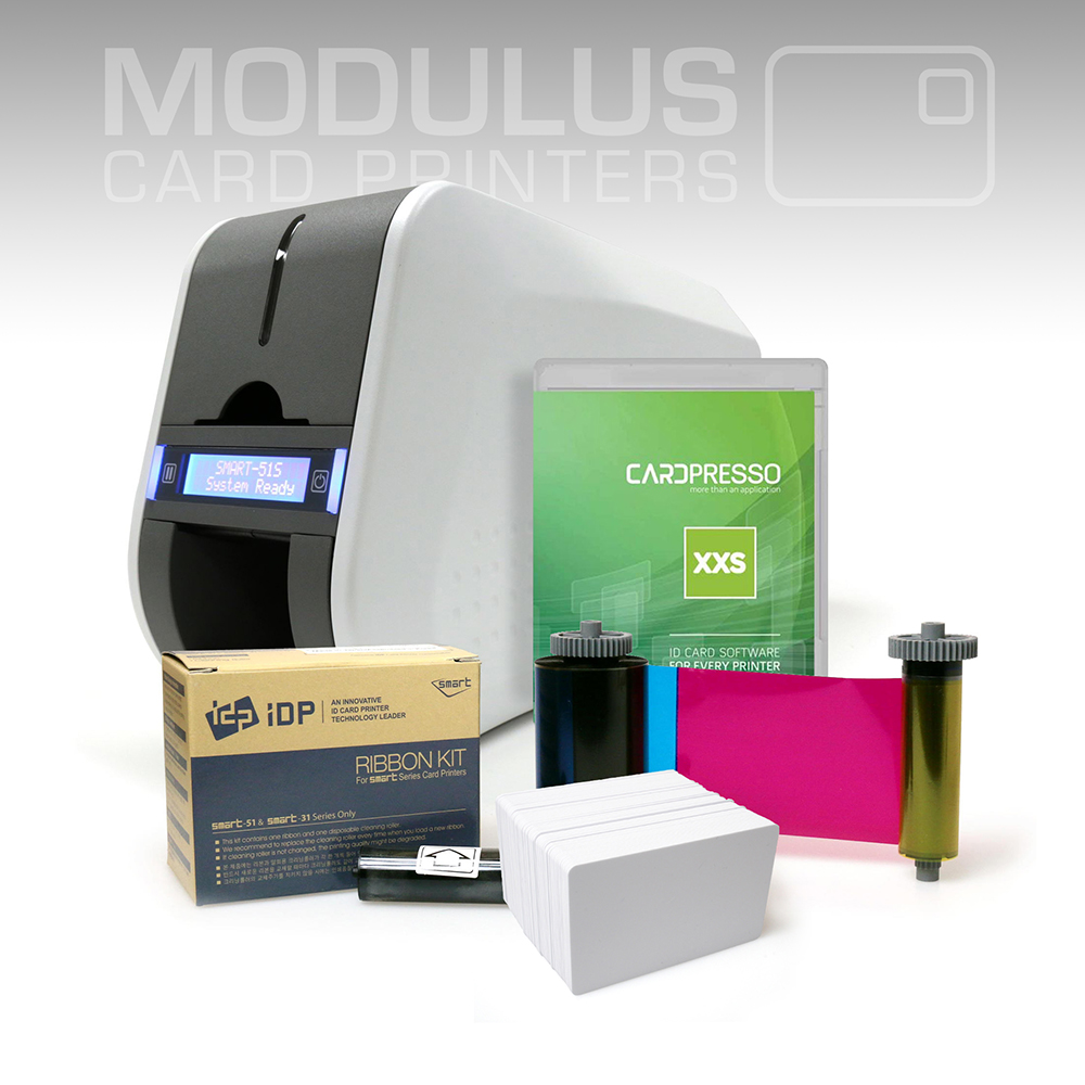 IDP Smart 51D Dual Sided Card Printer Package