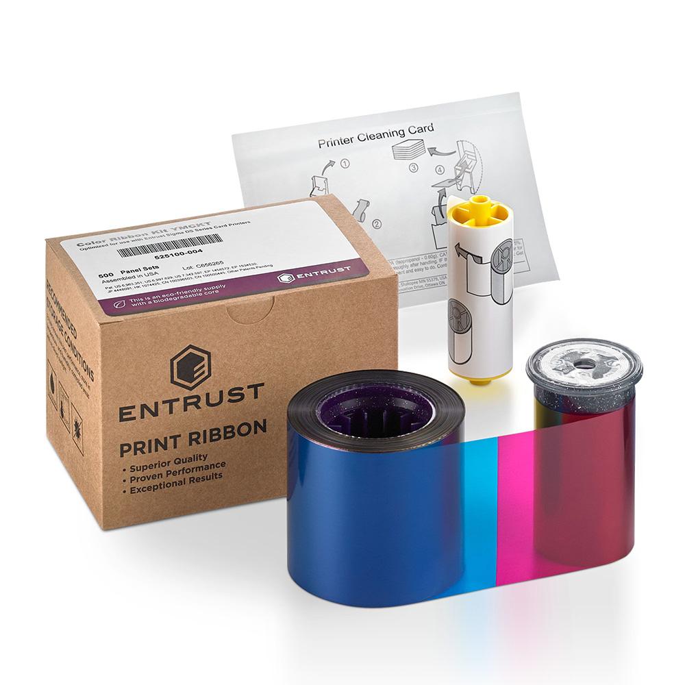 Entrust 525100-001 Sigma DS1 YMCKT Colour Ribbon